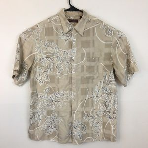 TORI RICHARD Silk Hawaiian Shirt Beautiful Weave
